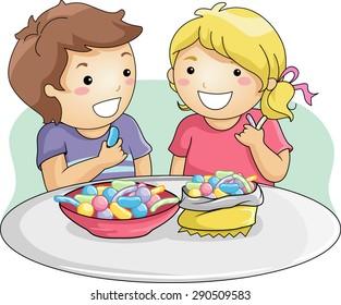 ᐈ Kids eating breakfast stock cliparts, Royalty Free kids having breakfast  vectors | download on Depositphotos®