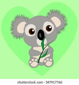 Illustration of little koala