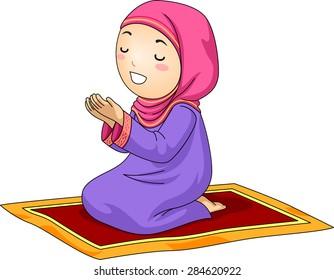 muslim girl praying images  stock photos   vectors pretty girl clipart pretty girl clipart black and white