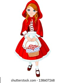 Illustration of little red riding hood