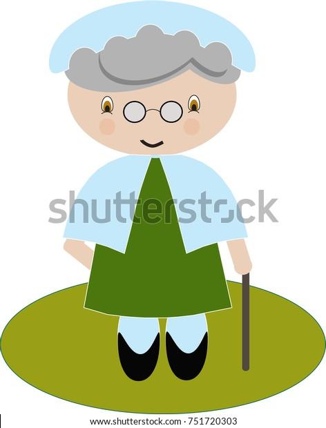 Illustration Little Red Riding Hood Grandma
