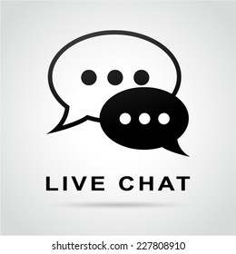 illustration of live chat speech bubbles concept