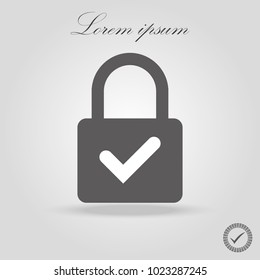 Illustration of a lock icon with a check mark