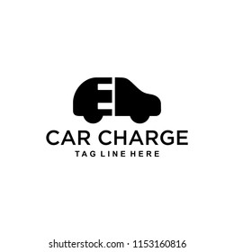 illustration of the logo of the electric car charging with a sign of the electric plug in it.