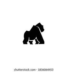 illustration logo gorilla templet icon