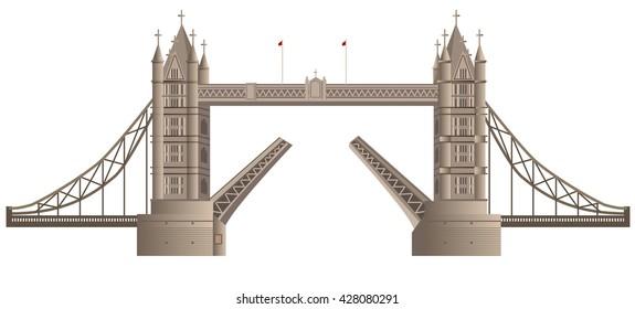 illustration of london bridge in england