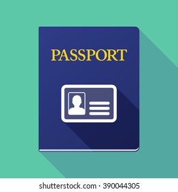 Illustration of a long shadow passport with an id card
