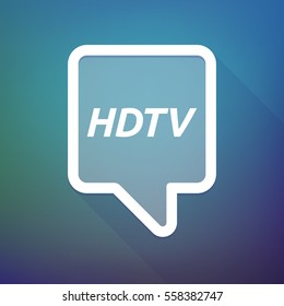 Illustration of a long shadow tooltip with    the text HDTV