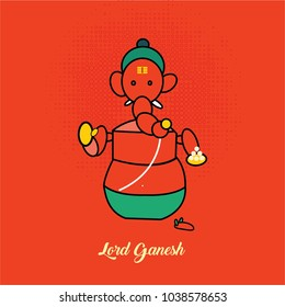 Illustration of lor ganesh in different style