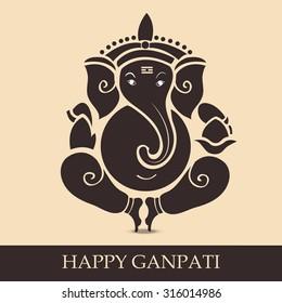 illustration of Lord Ganesh for Ganpati Chaturthi.