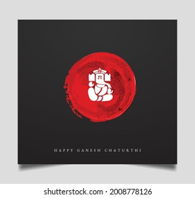 illustration of Lord Ganpati background for Ganesh Chaturthi festival of India vector banner poster greeting card