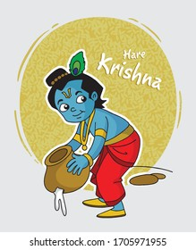 Illustration of lord krishna in different ways