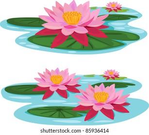 illustration Lotus river