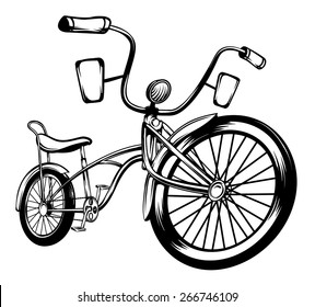 An Illustration of a Low Rider Bicycle
