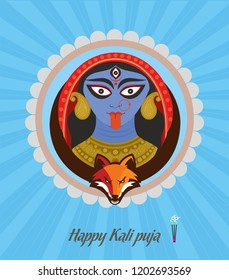 "Illustration of Maa Kali ""Welcome Goddess Kali"""