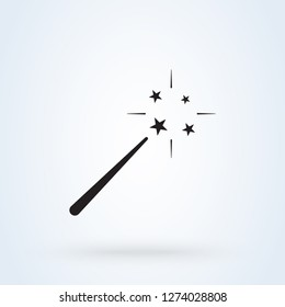 Illustration of magic wand icon on white background - Vektor