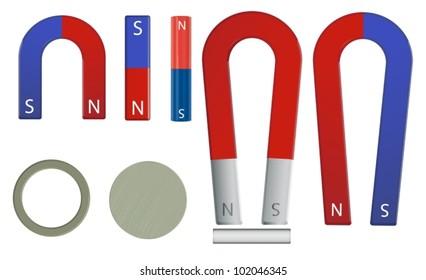 Illustration of a magnet set