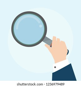 Illustration of magnifying glass icon