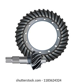 Illustration of the main gear icon. bevel gear.