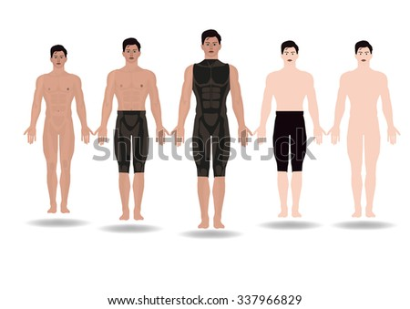 ILLUSTRATION Male Body Anatomy Front Standing Stock Vector (Royalty ...