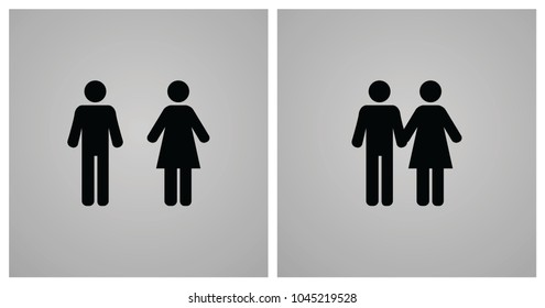 Illustration of Male and Female Icon, Father and Mother Sign