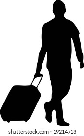 illustration of a man with baggage