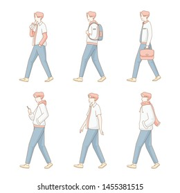 illustration of a man walking on many condition