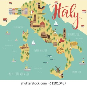 Food Map Italy Stock Vectors Images Vector Art Shutterstock