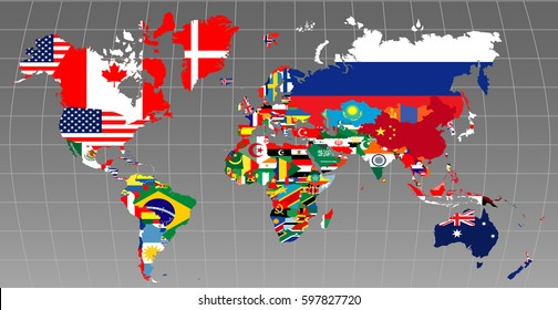 Map Of World Flags.World Map Flags Images Stock Photos Vectors Shutterstock