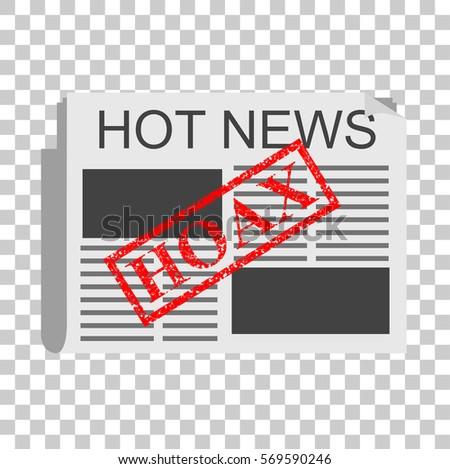 illustration mark hoax fake news transparent stock vector royalty