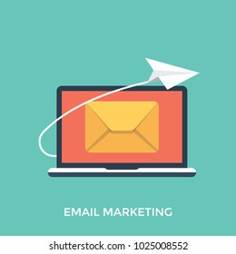 Illustration marketing correspondence, email marketing