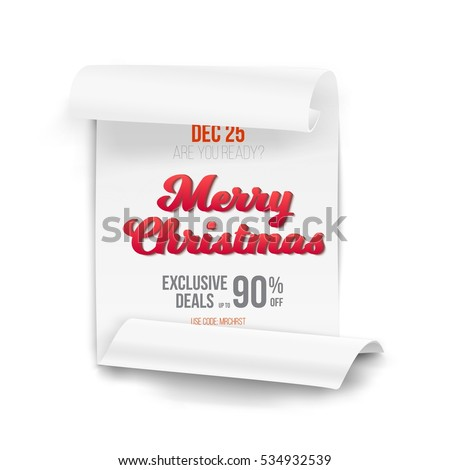 illustration marry christmas vector scroll banner stock vector