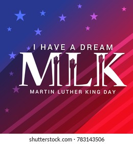 Illustration Of Martin Luther King Day Poster Or Banner Background.