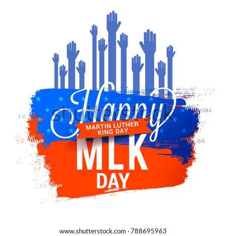 Illustration Martin Luther King Day Poster Stock Vector Royalty