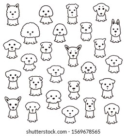 Illustration material of a simple, pretty dog,