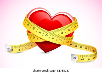 illustration of measuring tape around heart