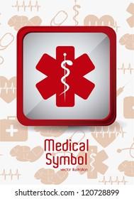 Illustration of Medical Logo Vector, in red color, vector illustration