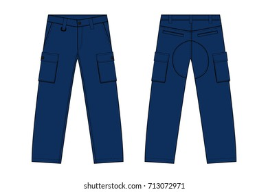 Illustration of men's denim pants