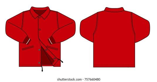 Illustration of men's jacket (red)