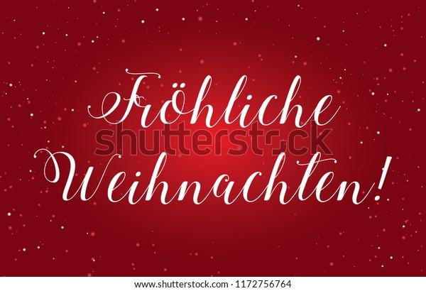 Merry Christmas In German.Illustration Merry Christmas German Austrian Weihnachten