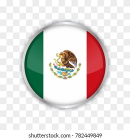 illustration of mexico flag with isolated transparent background