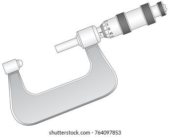Illustration of the micrometer gauge