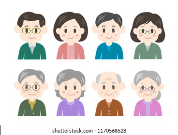 Illustration of middle and old age