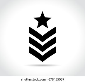 Illustration of military icon on white background
