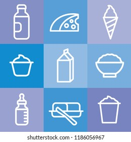illustration of milk products icon set