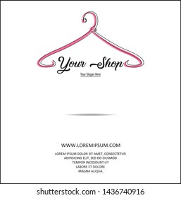 illustration of a minimalist logo design can be used for women's clothing products, symbols, signs, online shop logos, special clothing logos, boutique