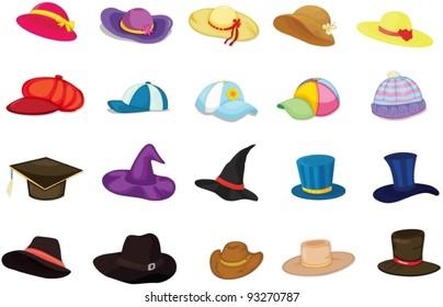 Illustration of mixed hats