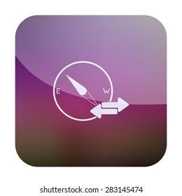 illustration of modern icon compass