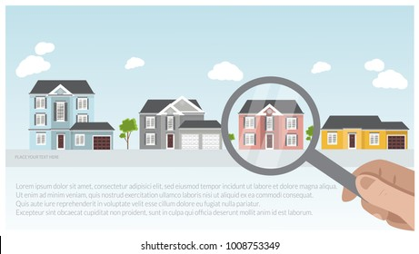Illustration of a modern luxury house project, real estate concept for sales