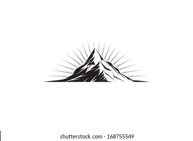 Illustration of a mountain peak silhouette